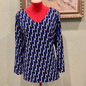 Worthington long sleeved geometric top in size 3X
